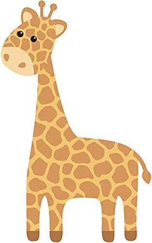 EW Designs Cute Nursery Kindergarten Giraffe Cartoon Vinyl Decal Bumper Sticker (12' Tall)