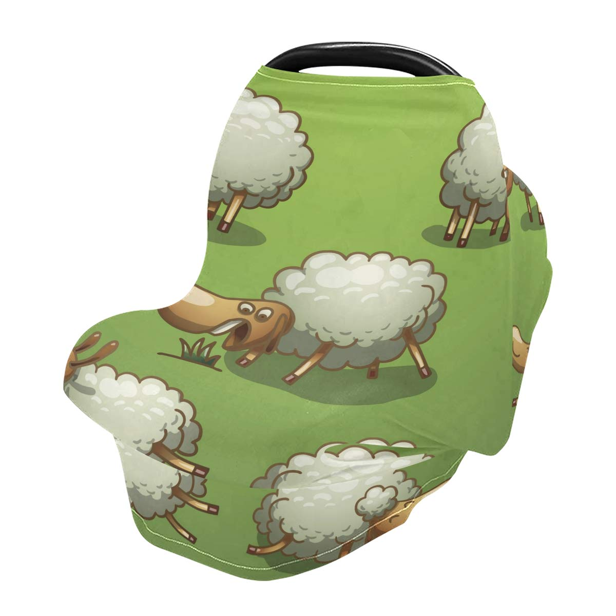 Nursing Cover Breastfeeding Scarf Funny Sheep- Baby Car Seat Covers, Infant Stroller Cover, Carseat Canopy for Girls and Boys(v3)