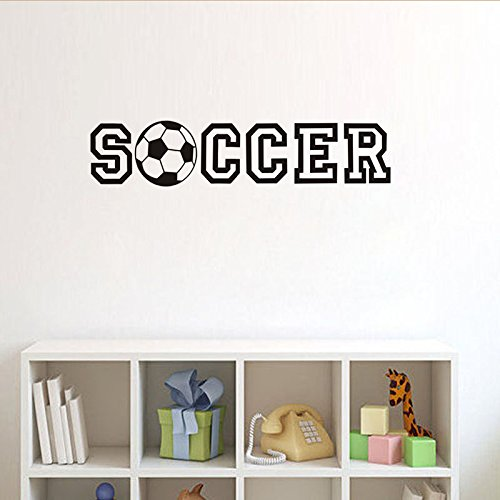 3D Soccer Ball Football Decorative Peel Vinyl Wall Stickers Wall Decals, DIY Removable Stick Baby Boys Girls Kids Room Nursery Wall Mural Decor 4