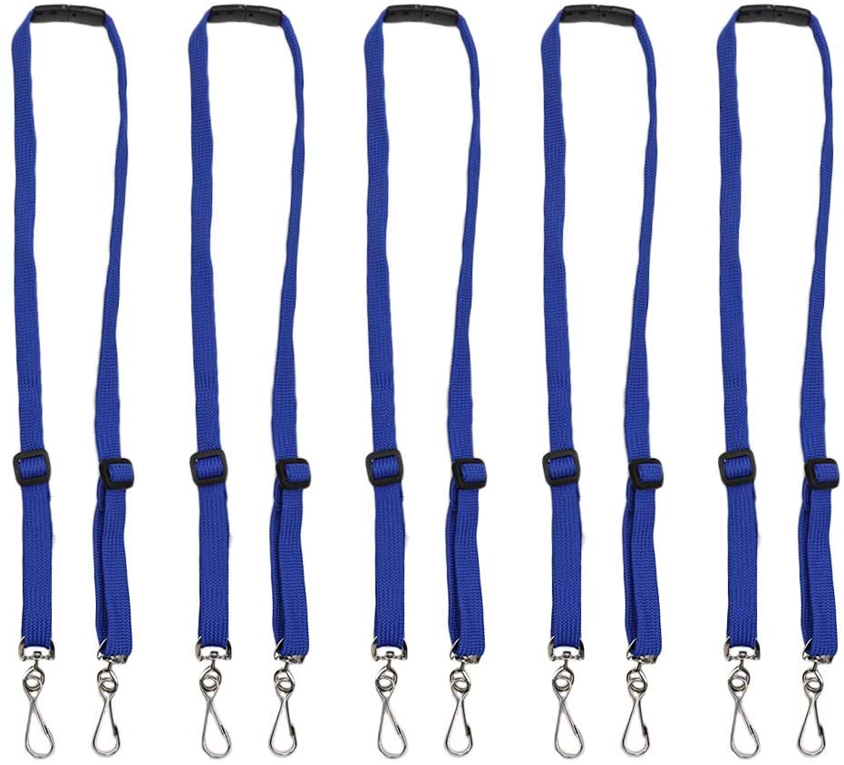 5 PCS Kids Adjustable Length Face Mask Lanyard with Safety Breakaway Clasp, Comfortable Neck Mask Lanyard Strap Mask Holder Hook with Clips for Boy Girls