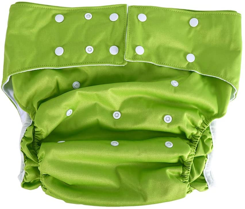 Adult Cloth Diaper, Adjustable Reusable Washable Diapers Nappy Pant for Adults Elderly(Green)