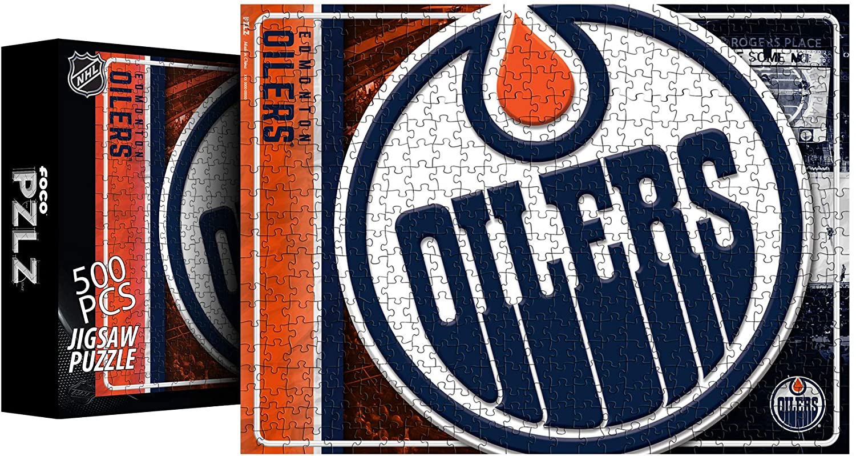 FOCO NHL Edmonton Oilers Big Logo 500 Piece Jigsaw PZLZ
