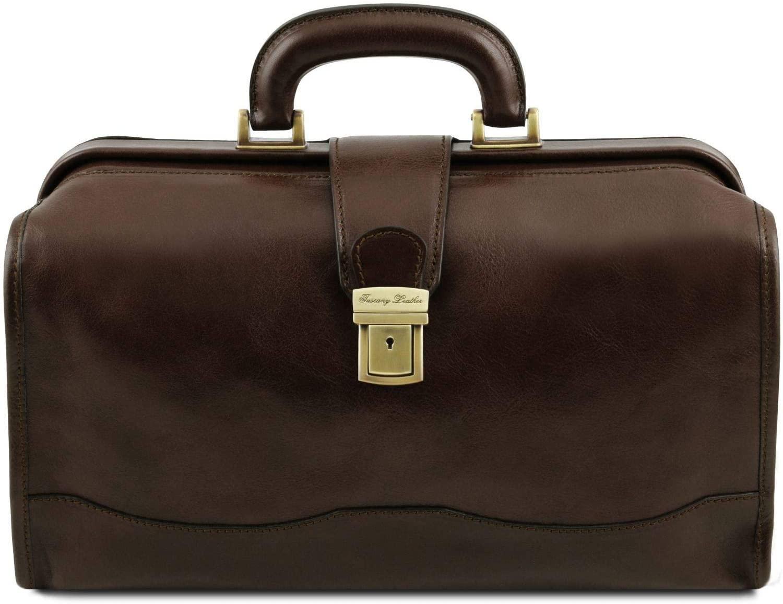 Tuscany Leather - Raffaello - Doctor leather bag - TL141852 (Dark Brown)