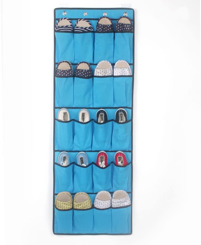 Lemoning Organizers and Storage for Home, 20 Pockets Hanging Over Door Shoe Organiser Storage Rack Bag Box Wardrobe Hook