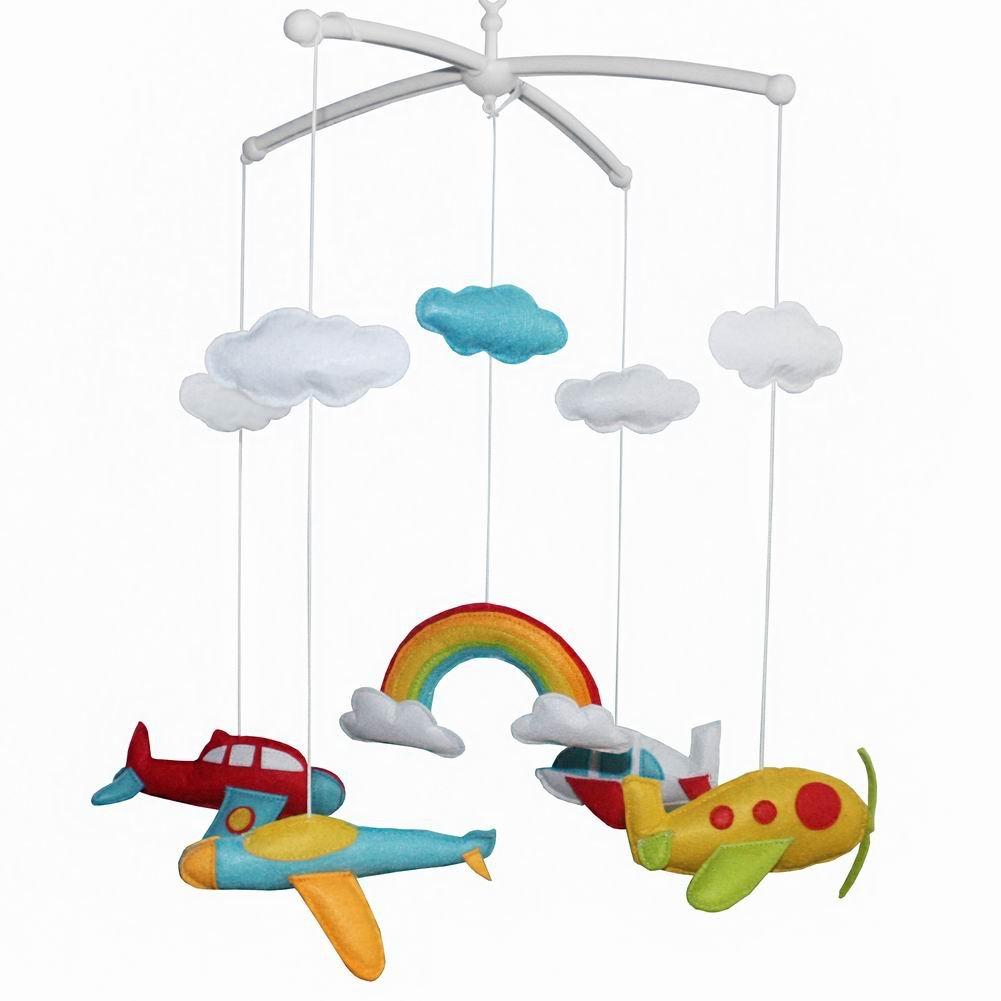 Lovely Infant Music Mobile Handmade Baby Crib Mobile Hanging Bell