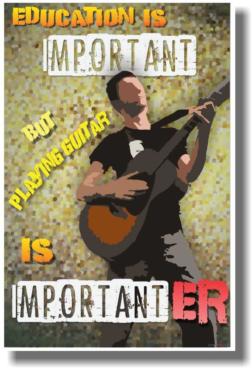 Guitar Is Importanter - NEW Funny Music Poster