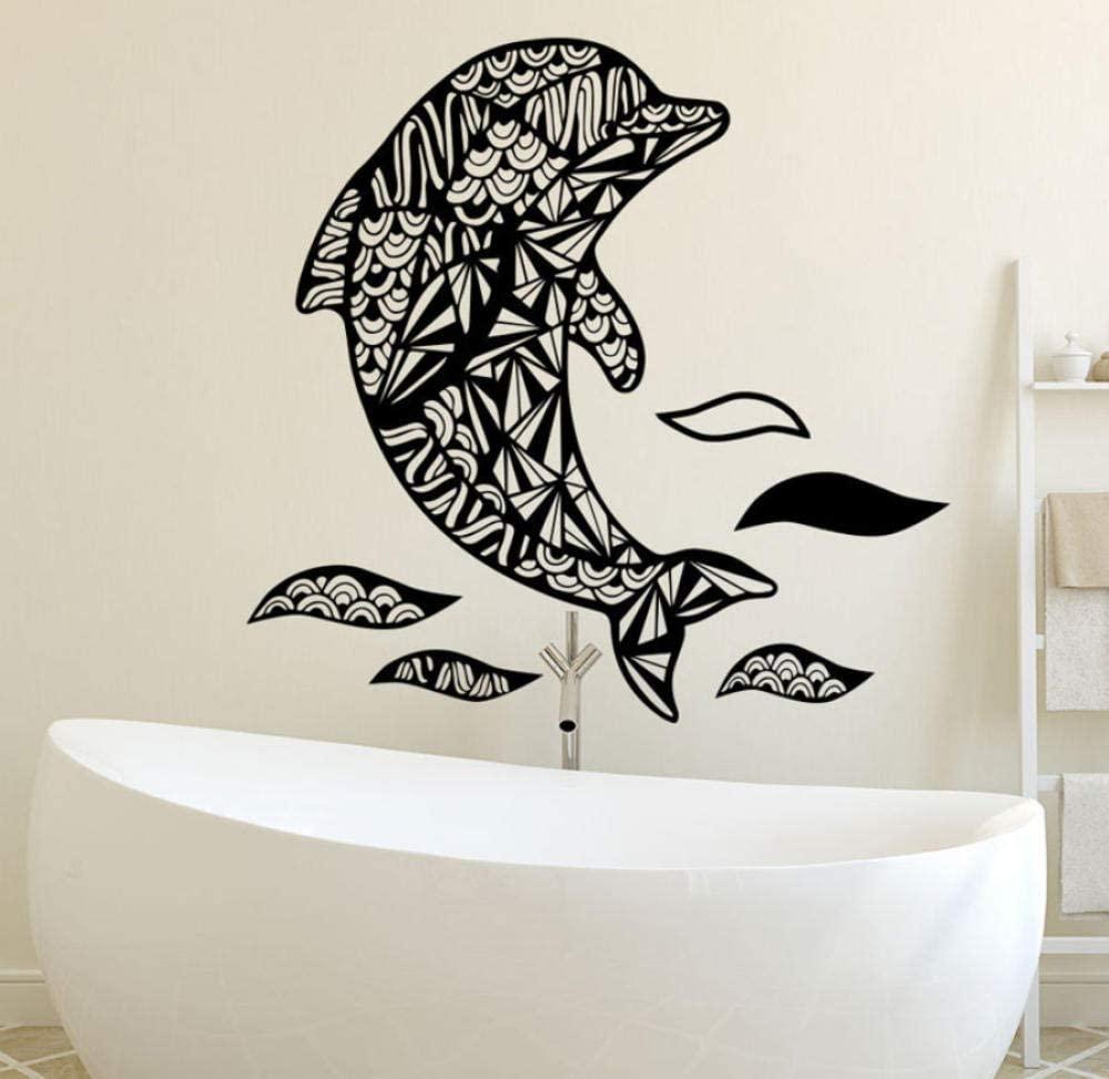 vwsitc Wall Decals Dolphin Fish Nautical Decal Bathroom Vinyl Sticker Nursery Decor 57 56Cm