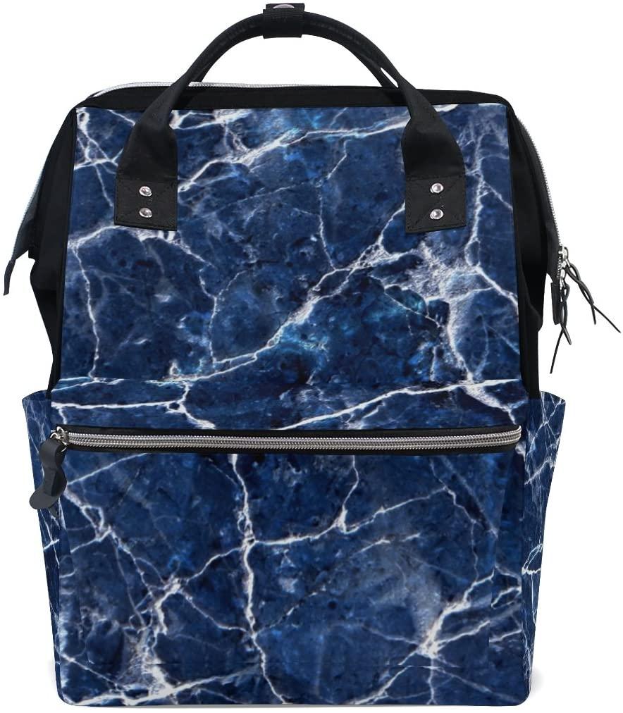 ALAZA Wave Ripple Backpack Large Capacity Mummy Nappy Travel Bag Tote Bag