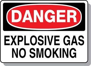 Beaed - DANGER Explosive Gas No Smoking