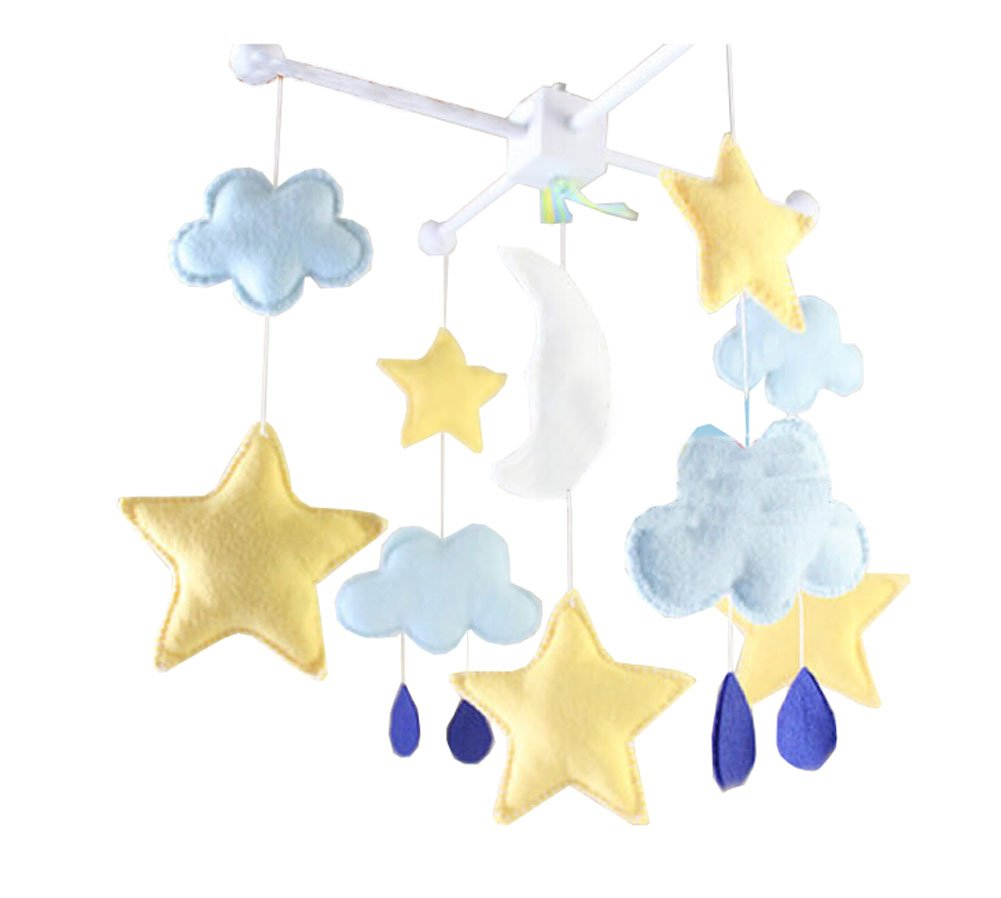 DIY Nursery-Mobiles for Crib Decorations Toy, Need Sewing, Star
