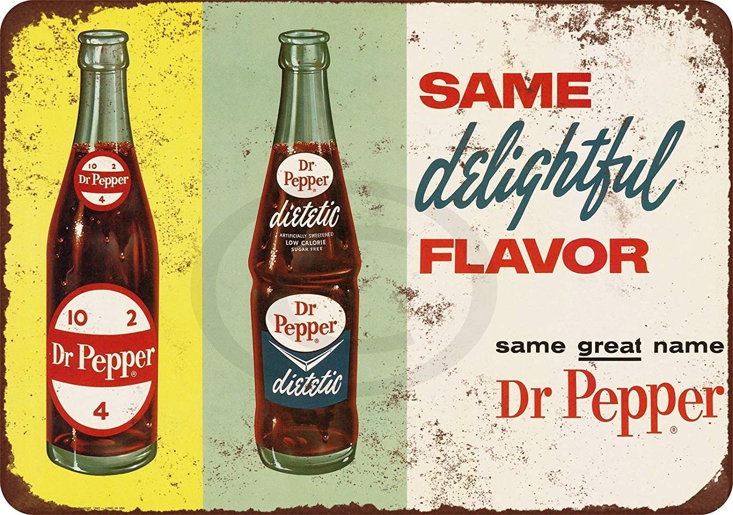 MAIYUAN New Tin Sign 1963 Diet Dr. Pepper Aluminum Metal Sign 8x12 Inches (YCY4084)