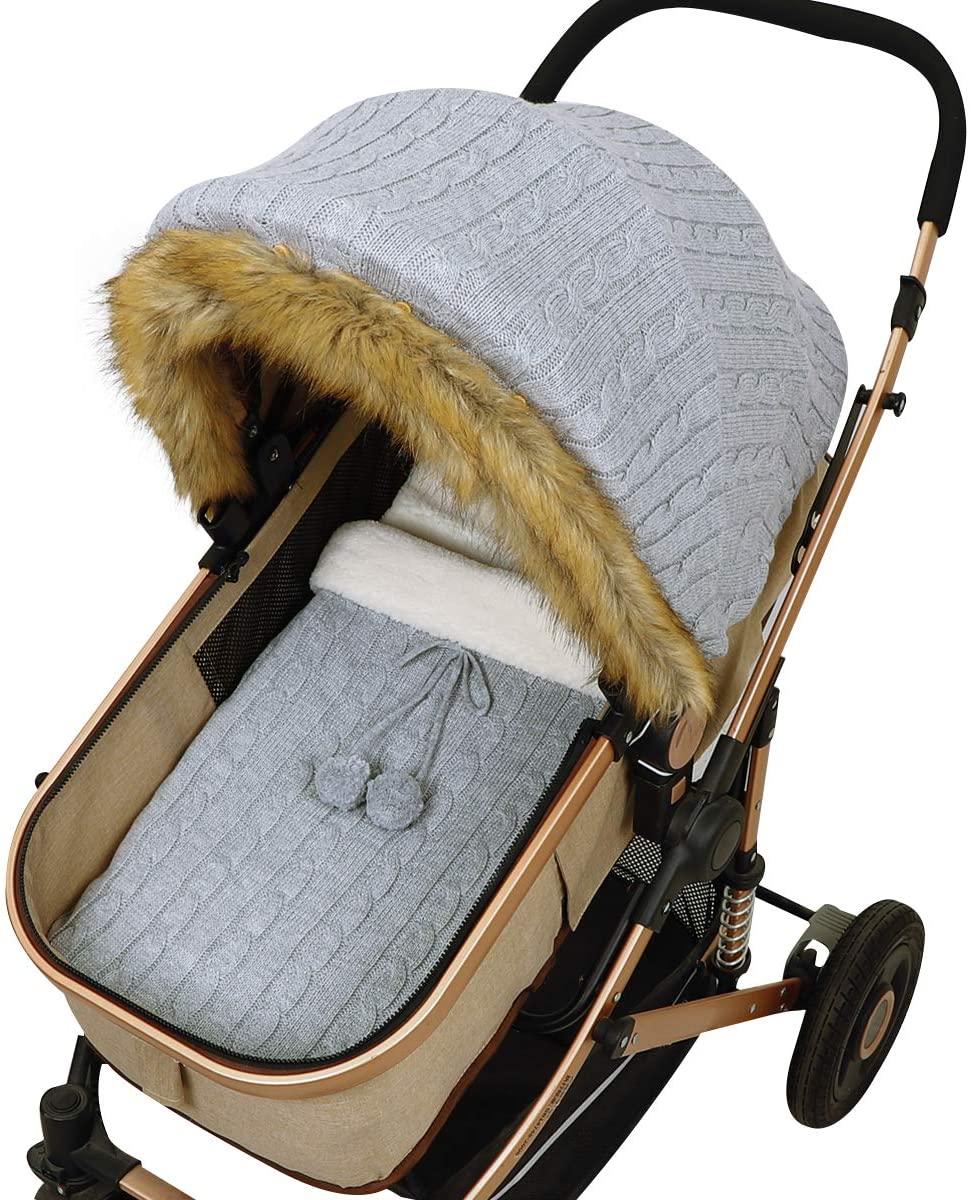SunshineFace Baby Stroller Cover Sleep Sack Set, Newborn Infant Carseat Canopy Stroller Wrap for Baby Girls Boys