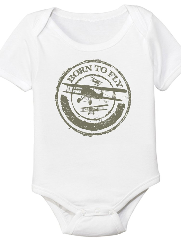 Born to Fly, Aviation Themed Baby Onesie (18 Month)