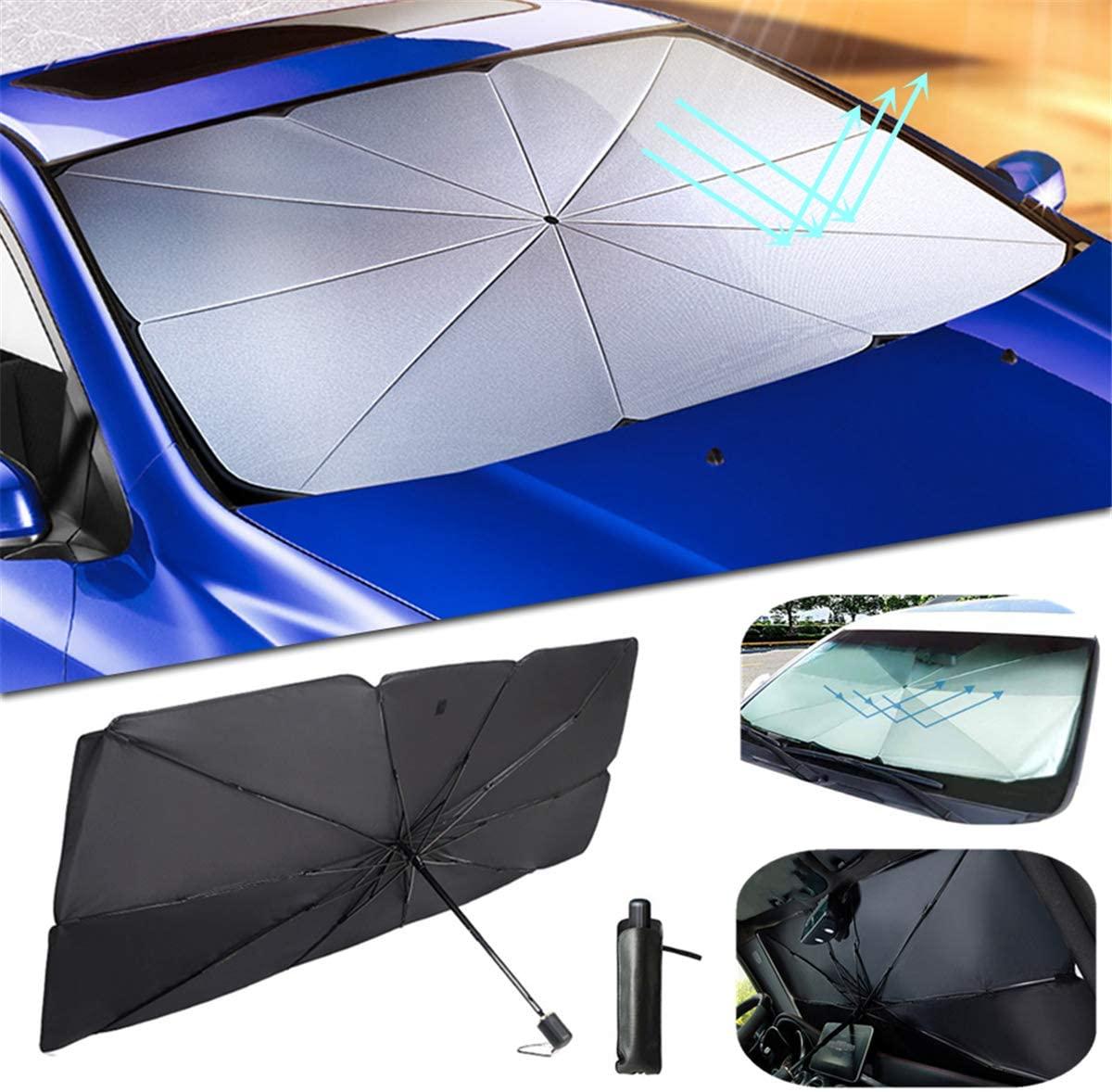 ytbmhhuoupx Car Windshield Sun Shade for Subaru Tribeca Blocks Rays Sun Umbrella Visor Protector Foldable Reflector Umbrella 31x57in