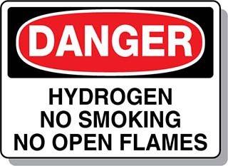 Beaed - Danger Hydrogen No Smoking No Open Flames - 100-0021-93AL14