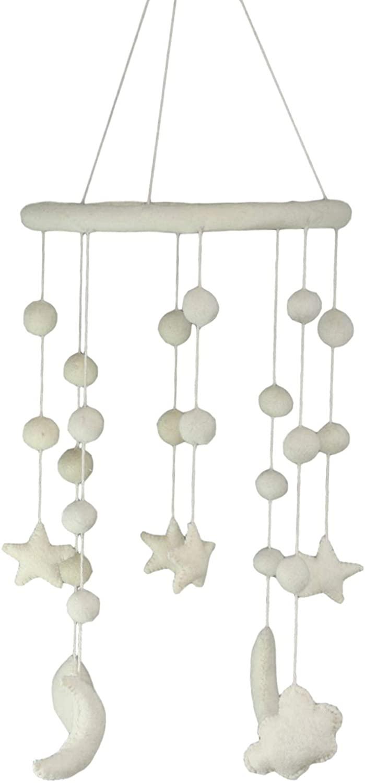 Ebros Fiona Walker England Starry Night Clouds Moons and Stars Handmade Organic Nursery Mobile Baby Room Decor (Cloud Moon and Star Celestial Heavens)