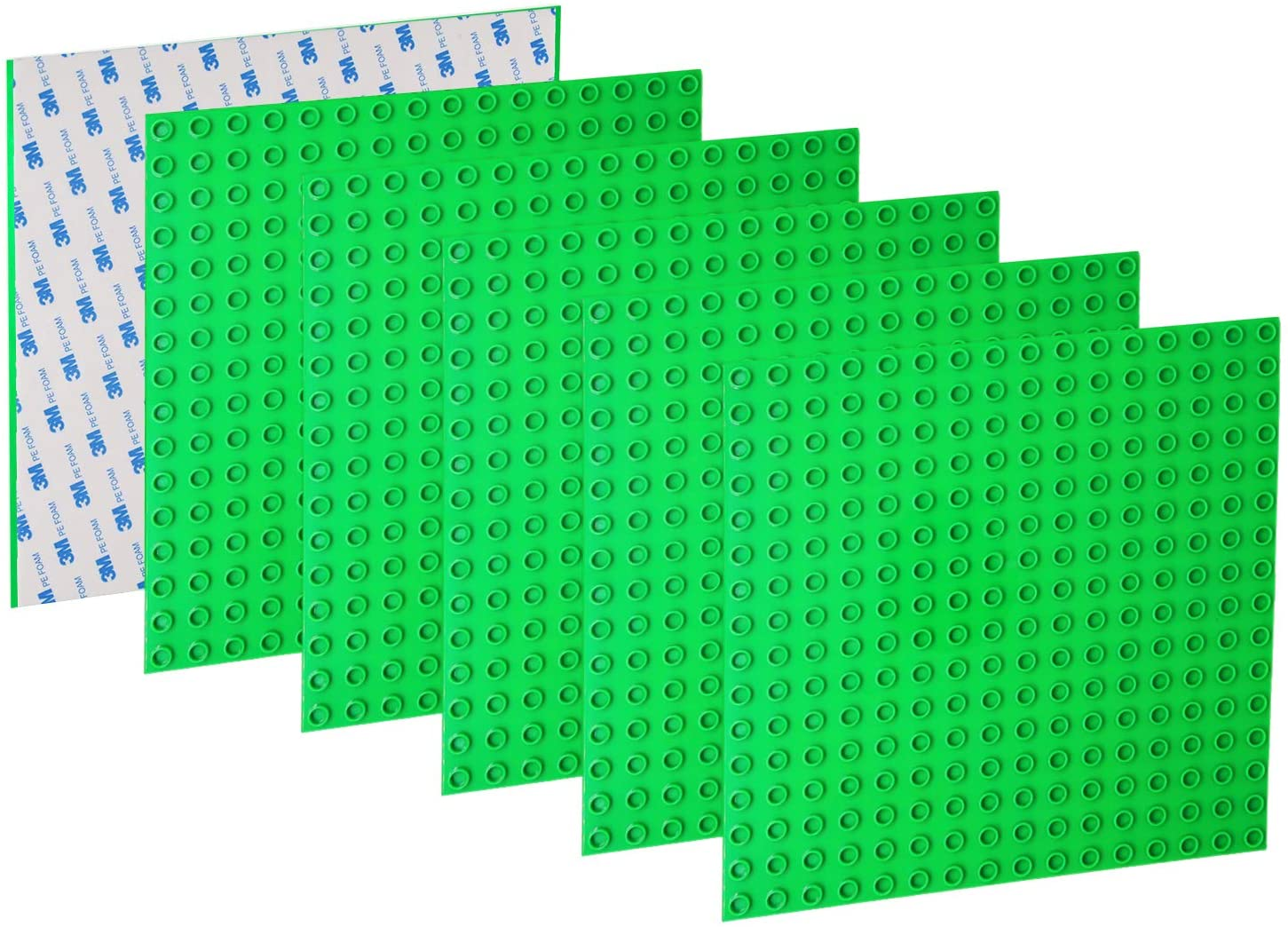 EKIND 6 PCS Peel-and-Stick Large Blocks Building Base Block Plate 10
