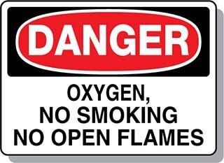 Beaed - DANGER Oxygen No Smoking No Open Flames