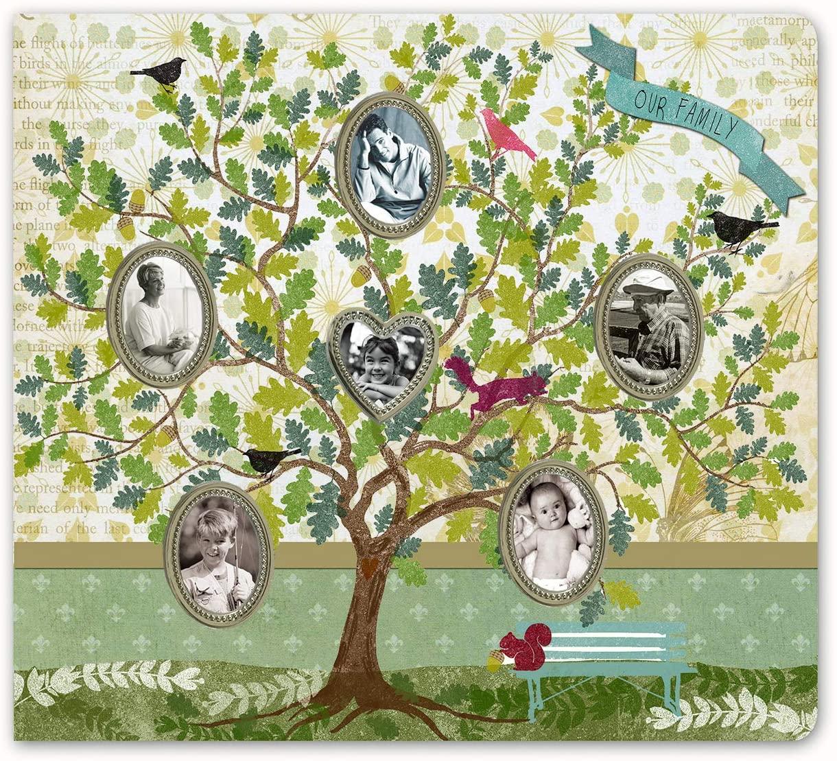 SAILINGSTORY Family Tree Photo Album 4x6 with Memo Space 200 Pockets, Family Photo Album 4x6, Family Tree Memory Book, Family Tree Photo Book