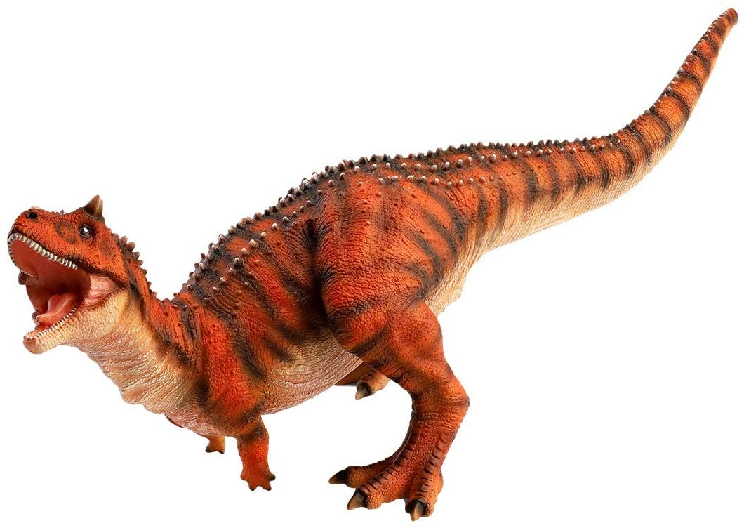 """Carnotaurus Toy Figure - 15"""" Realistic Sculpting - Hand Painted - Jurassic Toy with Fine Details with Colored Spines and Fierce Eyes, Teeth and Scales - Predatory Cretaceous Period Dinosaurs Toys"""
