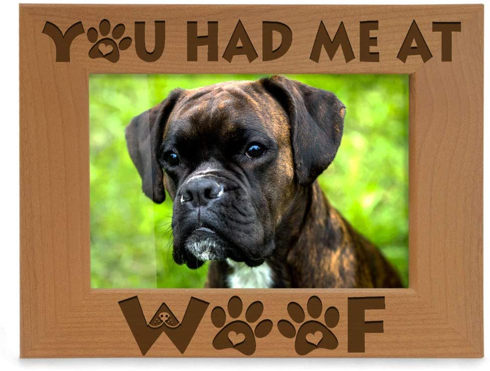 KATE POSH - You had me at Woof - Dog Paws Engraved Picture Frame (4x6 Horizontal)