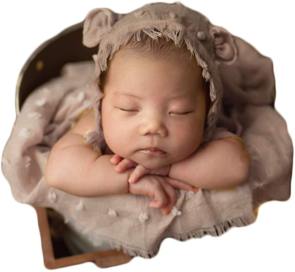 Zeroest Baby Photography Props Wrap Hat Newborn Photo Shoot Outfits Infant Photos Hats Blanket Set