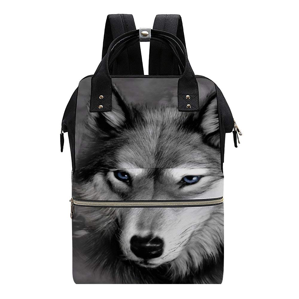 Wolf Diaper Bag Backpack Baby Nappy Changing Bags Multifunction Waterproof Travel Back Pack