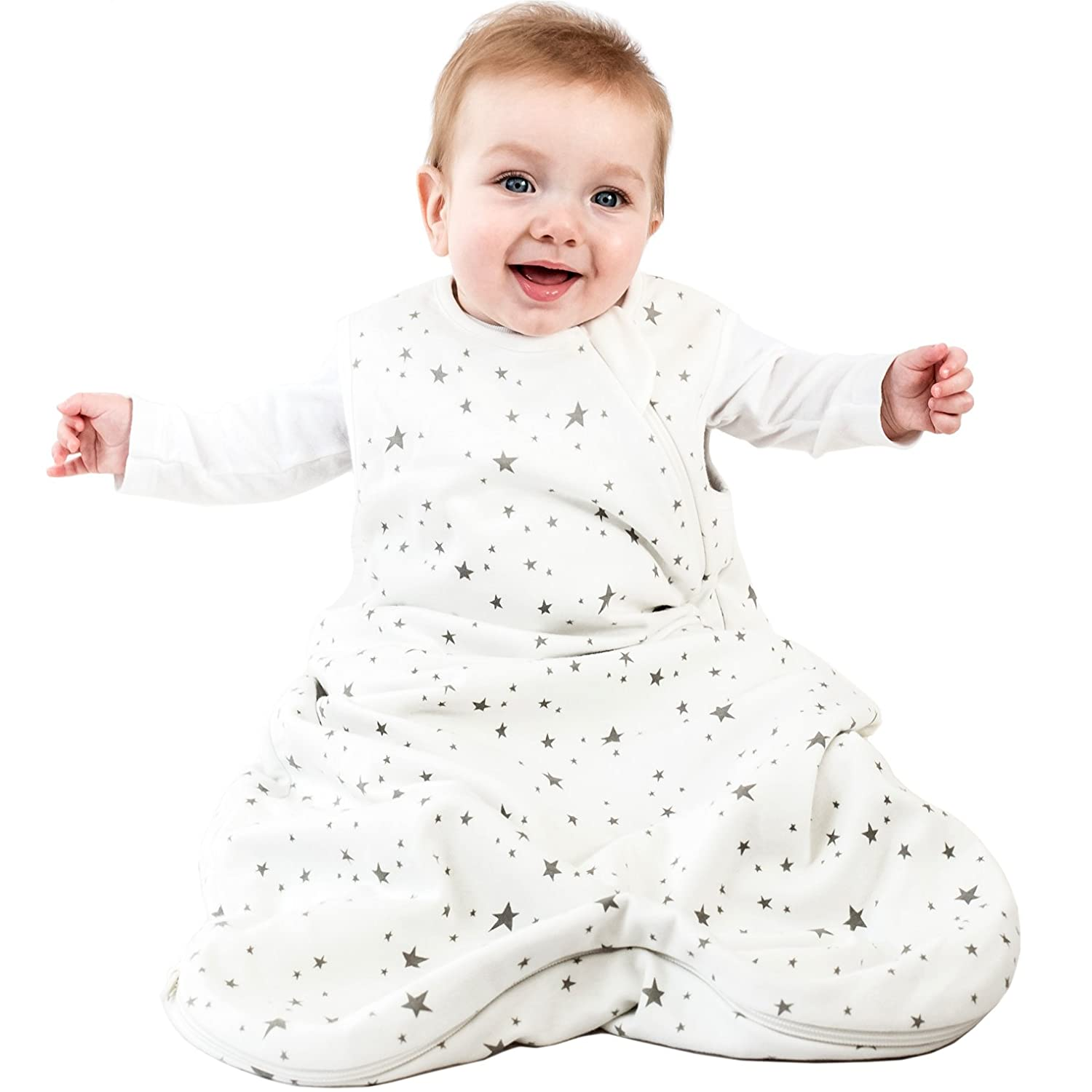 Woolino 4 Season Basic Baby Sleeping Bag, 0-6 Mo, Stars