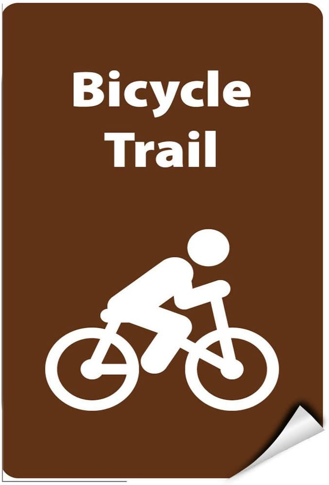 Bicycle Trail Activity Sign Park Signs Park Guide A,B,C LABEL DECAL STICKER Sticks to Any Surface