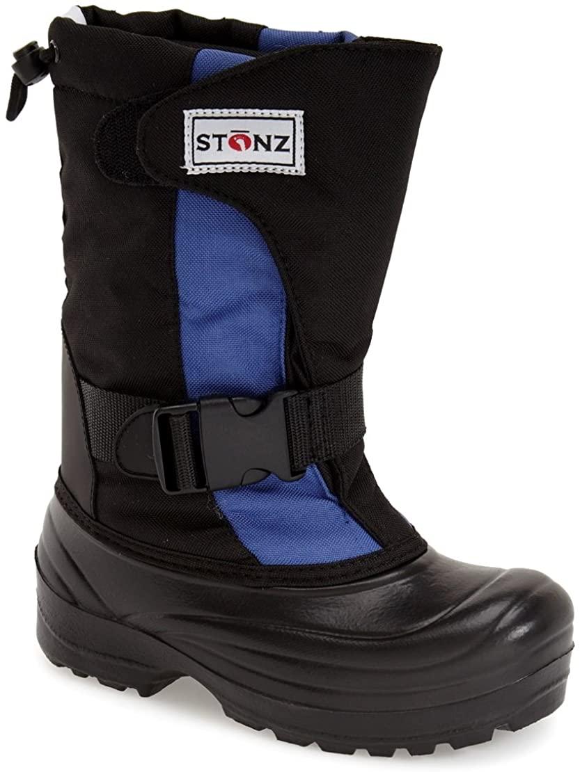 Stonz Trek Performance Snow Boot for Boys & Girls - Light-Weight, Insulated, Non-Slip, Rugged Winter Outdoor Hiking Play School Warm Liner - Blue,