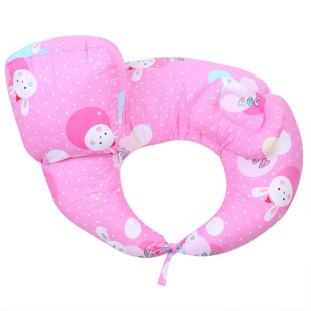Breastfeeding Pillow,Nursing Pillows for Breastfeeding, Breast Feeding Essentials, Newborn Feeding Cotton Waist Cushion(Red)