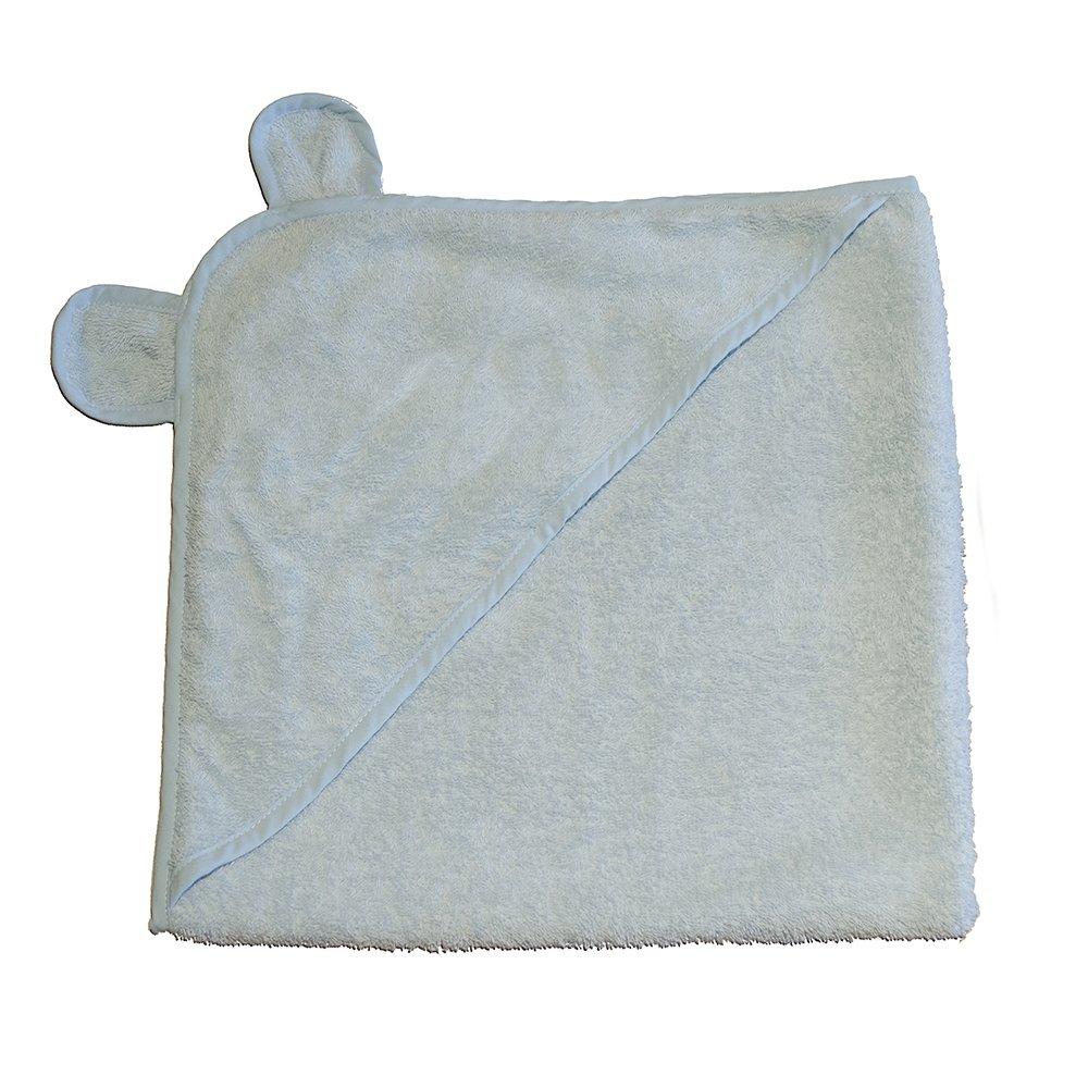 Applesauce Turkish Cotton Hooded Baby Bath Towel, Blue