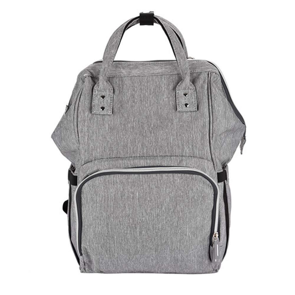 NCONCO Multifunctional Large Mummy Backpack with USB Charging Port Diaper Nappy Bag Handbag(Grey)