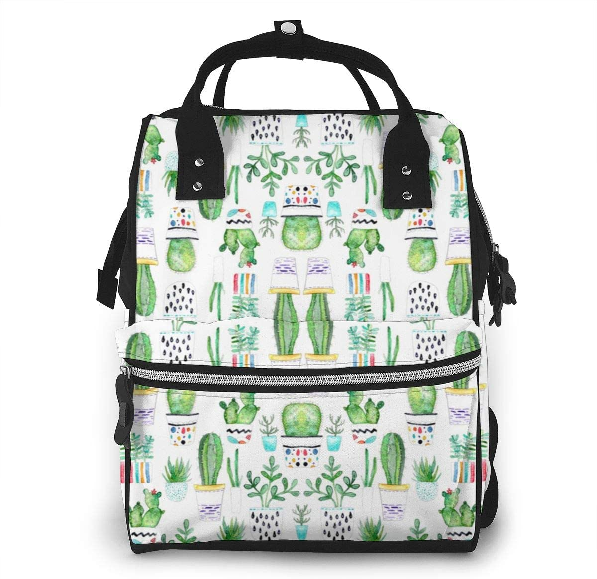 NiYoung Diaper Bag Organizer Insulated Waterproof Travel Nappy Backpack Large Capacity Tote Shoulder Nappy Bags for Mommy Backpack with Multi-Function,Durable and Stylish (Succulents Cactus)