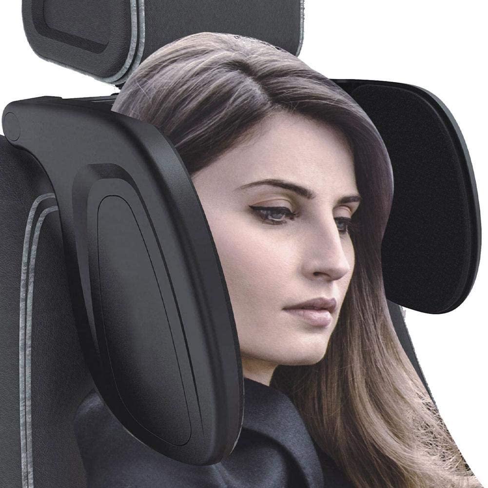 Car Sleep Headrest, Retractable Adjustable Memory Foam Neck Pillow Cushion, Seat Side Sleep Car Neck Pillow, Car Travel Neck Pillow, Better Sleep for Passengers