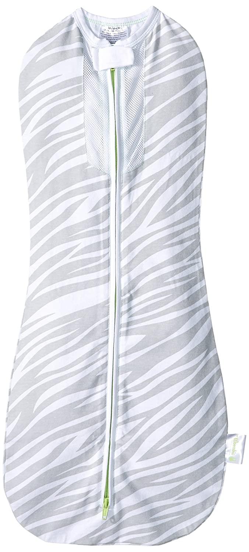 Woombie Air, Gray Zebra/Green Trim, Big Baby 14-19 Lbs
