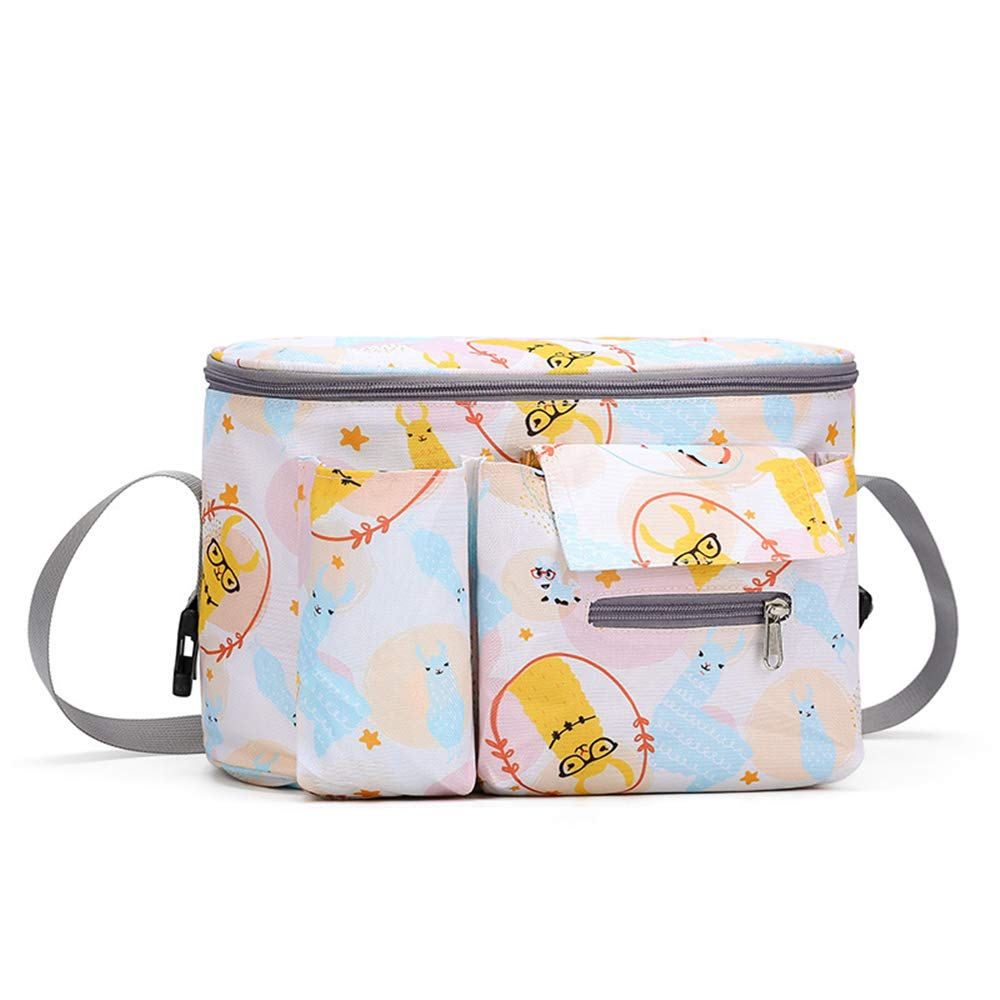 Baby Stroller Organizer Bag, Cartoon Printing Adjustable Strap Mummy Bag, Pushchair Diaper Bags for Diapers Feeding Bottles and cellphones
