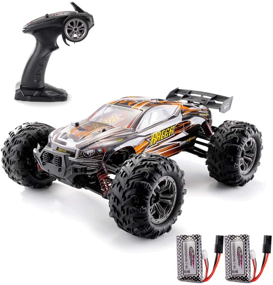 EPHYTECH 1/16 Remote Control Cars 36km/h Electronic Monster RC Truck 4X4 All Terrain Off Road Vehicles for Kids&Adults