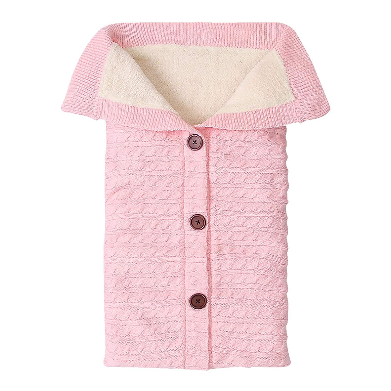 Tabpole Newbown Infant Swaddle Blanket Wrap Fleece Warm Knit Sleeping Bag Sleep Sack Stroller Wrap for Babies