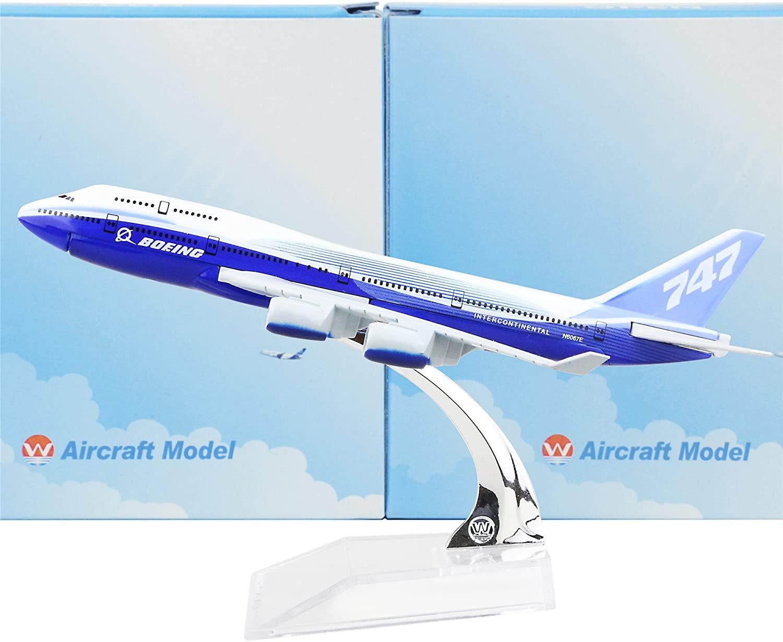 Lose Fun Par 16cm Metal Airplane Models Child Birthday Gift Plane Models Home Decoration (S-Airplane-B747)