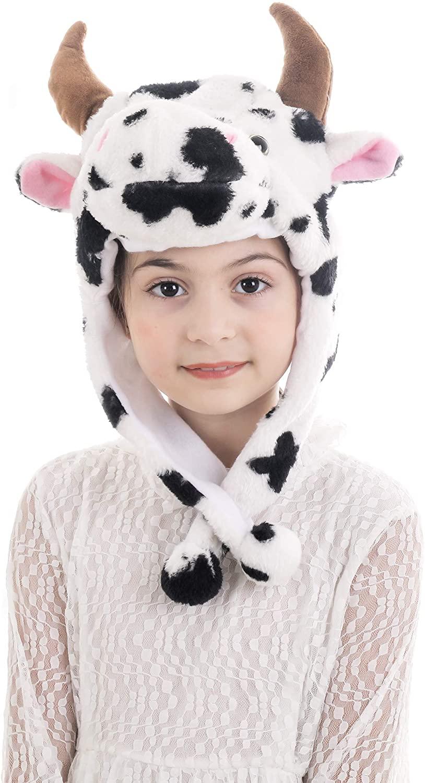 Calvertt Kids Animal Hat Plush Hats for Boys and Girls Hat Animal Costume Hat