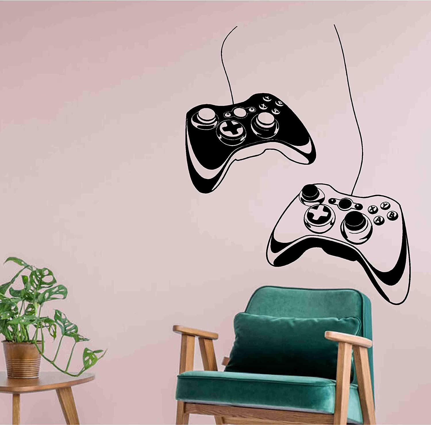 Controllers Video Game Gaming Personalised Gamer Tag Vinyl Sticker Decal - Room Decor Wall Art Mural Home Decoration Bedroom (Designs 15)