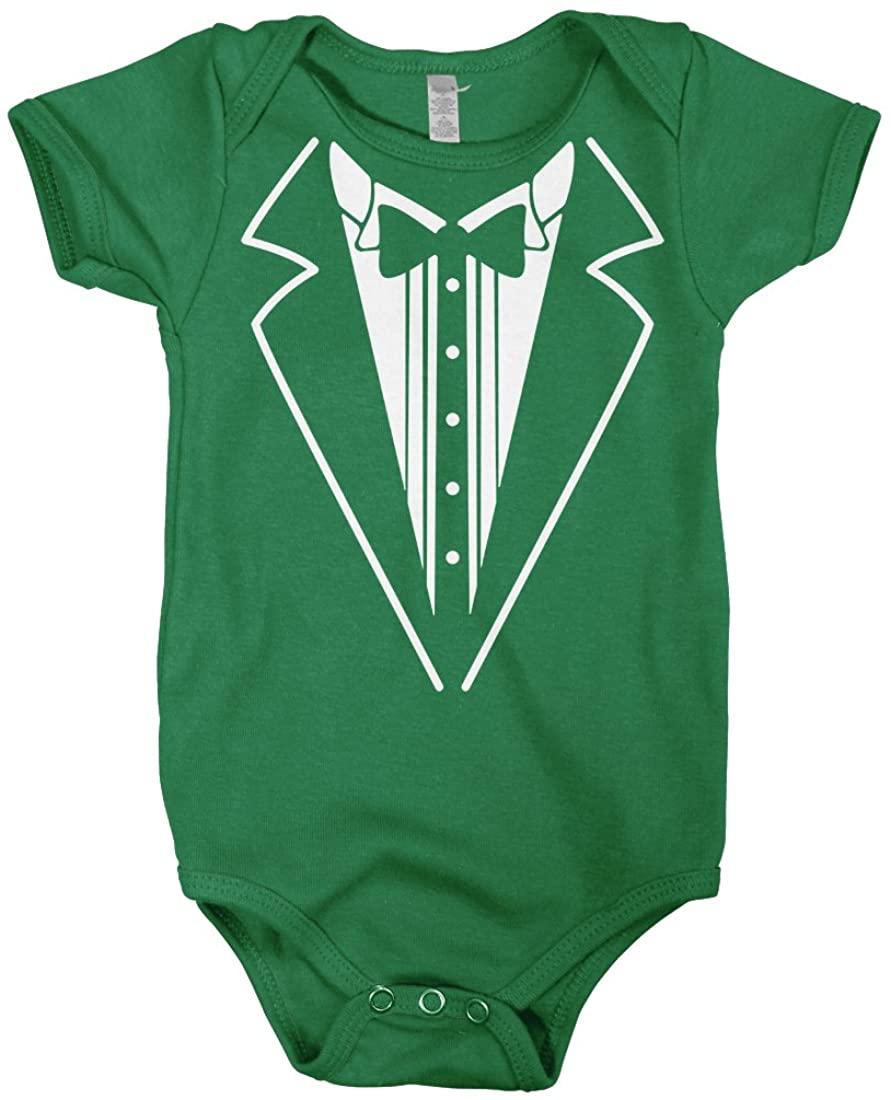 Mixtbrand Baby Boys' Tuxedo Style Shirt Infant Bodysuit