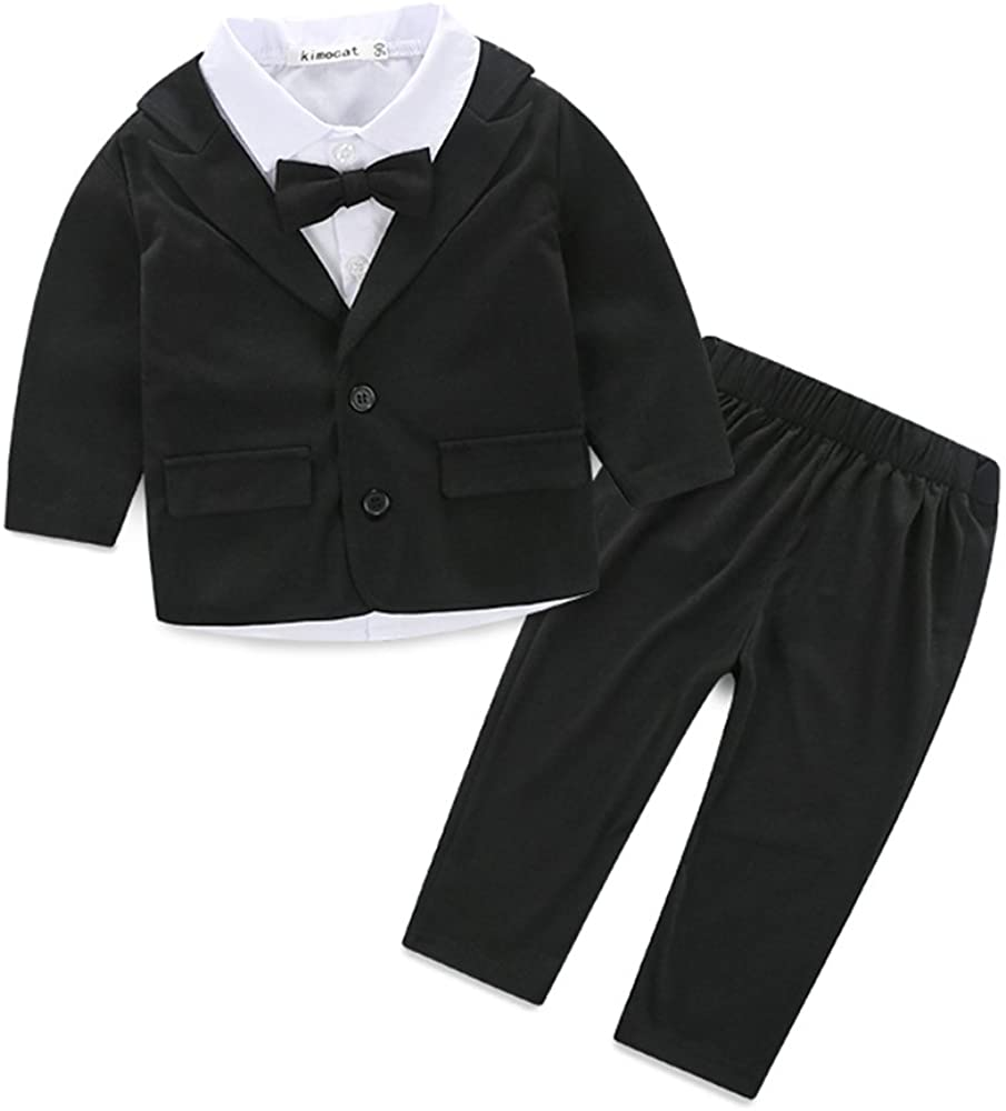 Kimocat Cute Fashion Baby Boys Gentleman Clothes Set