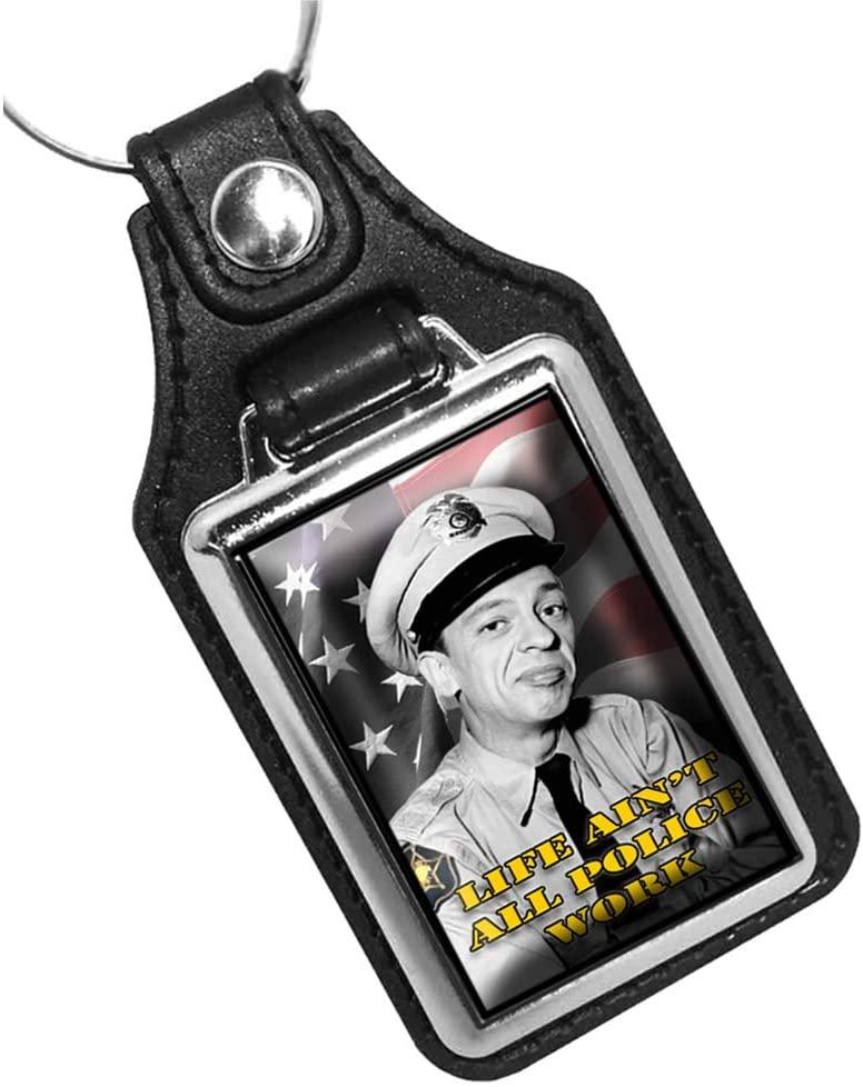 Brotherhood Mayberry Sheriff Department Don Knotts as Deputy Barney Fife Keychain Key Holder Key Ring for Men Heavy Duty Car Keyring for Men and Women