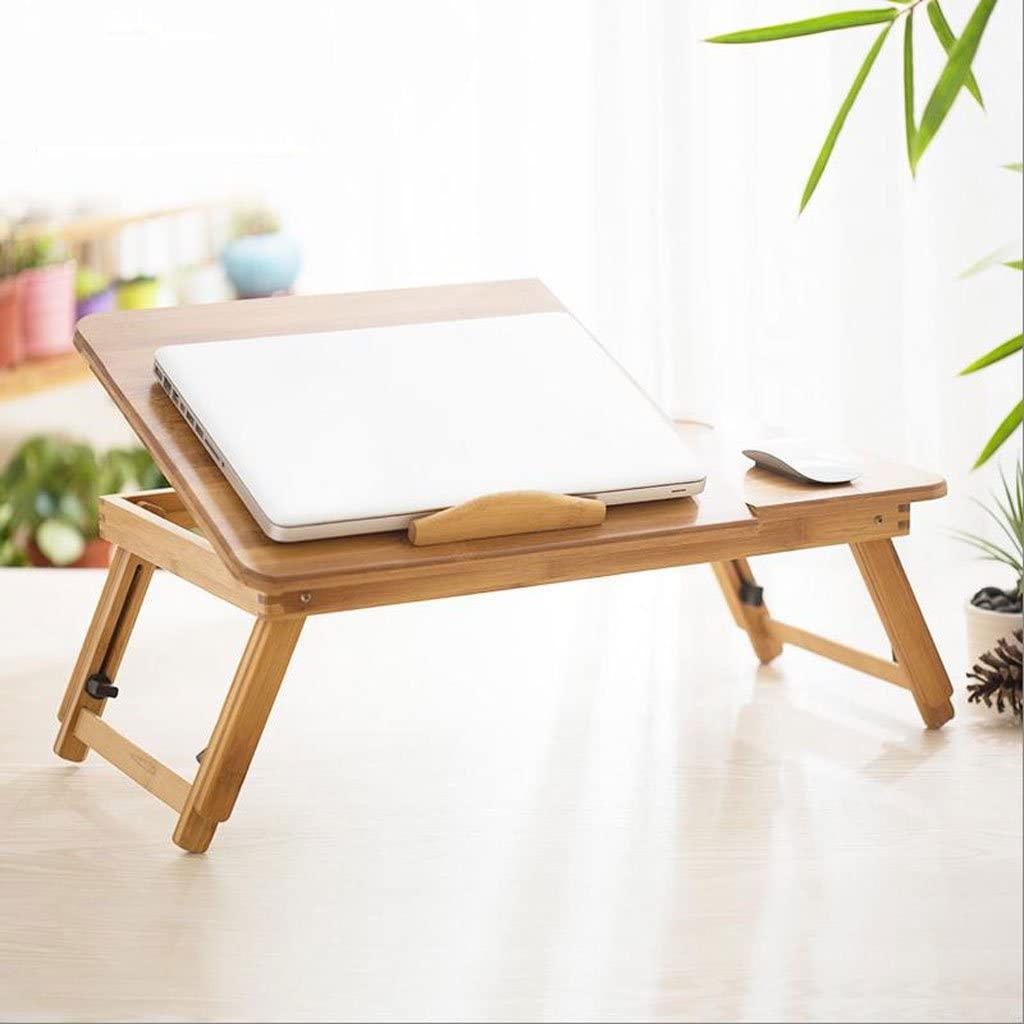 GHM Laptop Table Bed Folding Desk Lazy Small Desks Student Tables (Size : L55cmW35cm)