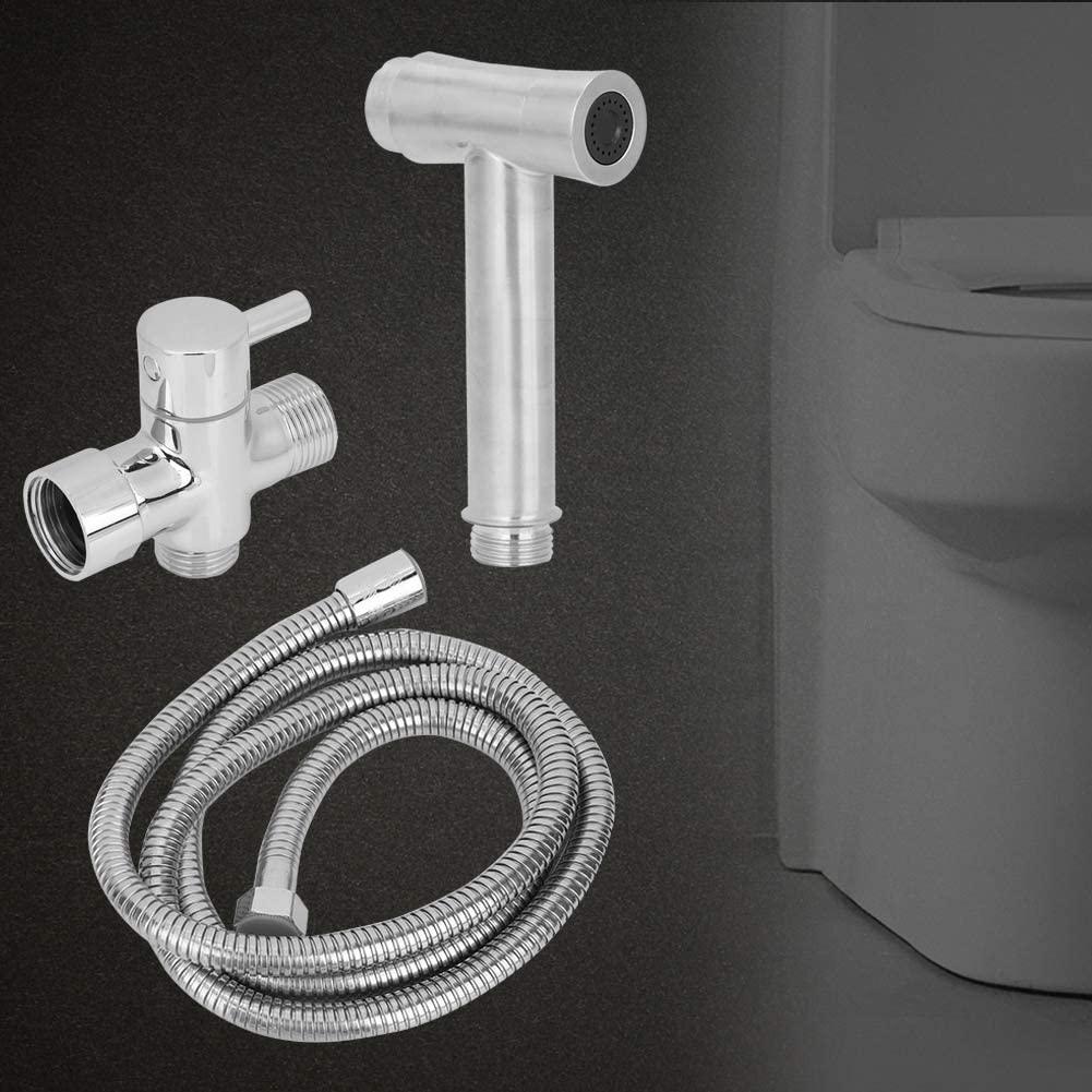 Qiilu Bathroom Sprayer Kit Spray Attachment with Hose Easy Install for Bathroom Toilet Washroom