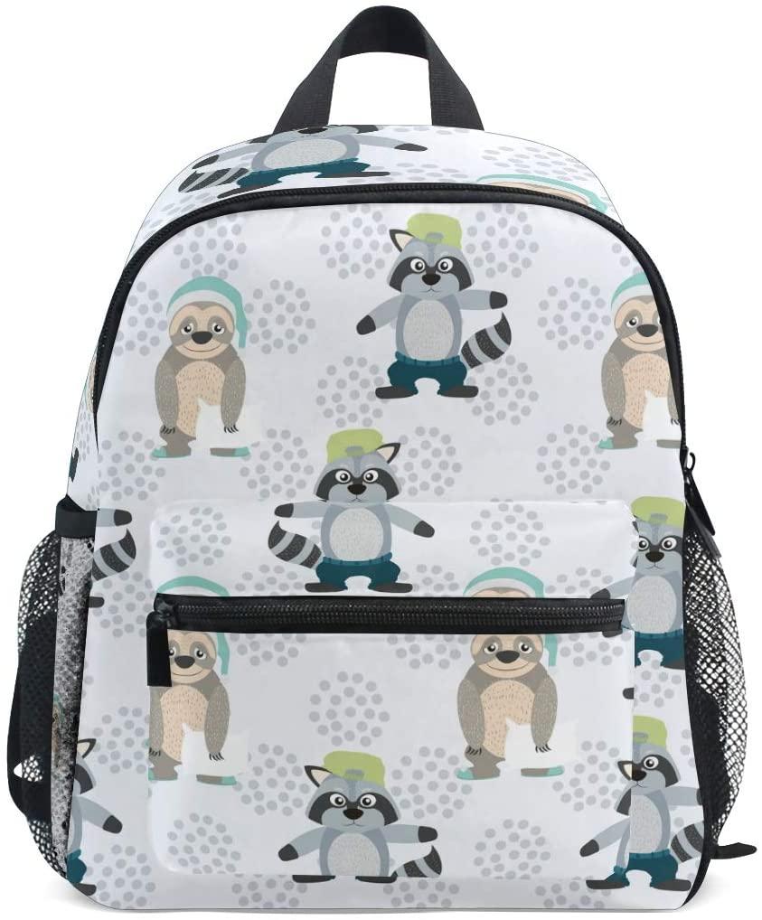 OREZI Fahion Sloth Kids Backpack,Toddler Schoolbag Preschool Bag Travel Bacpack for Little Boy Girl