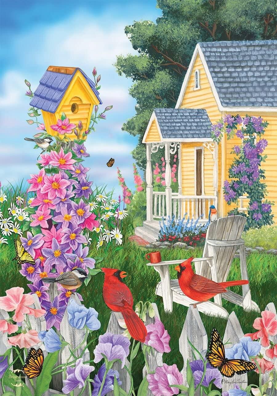 Briarwood Lane Full Bloom Spring Garden Flag Birdhouses 12.5