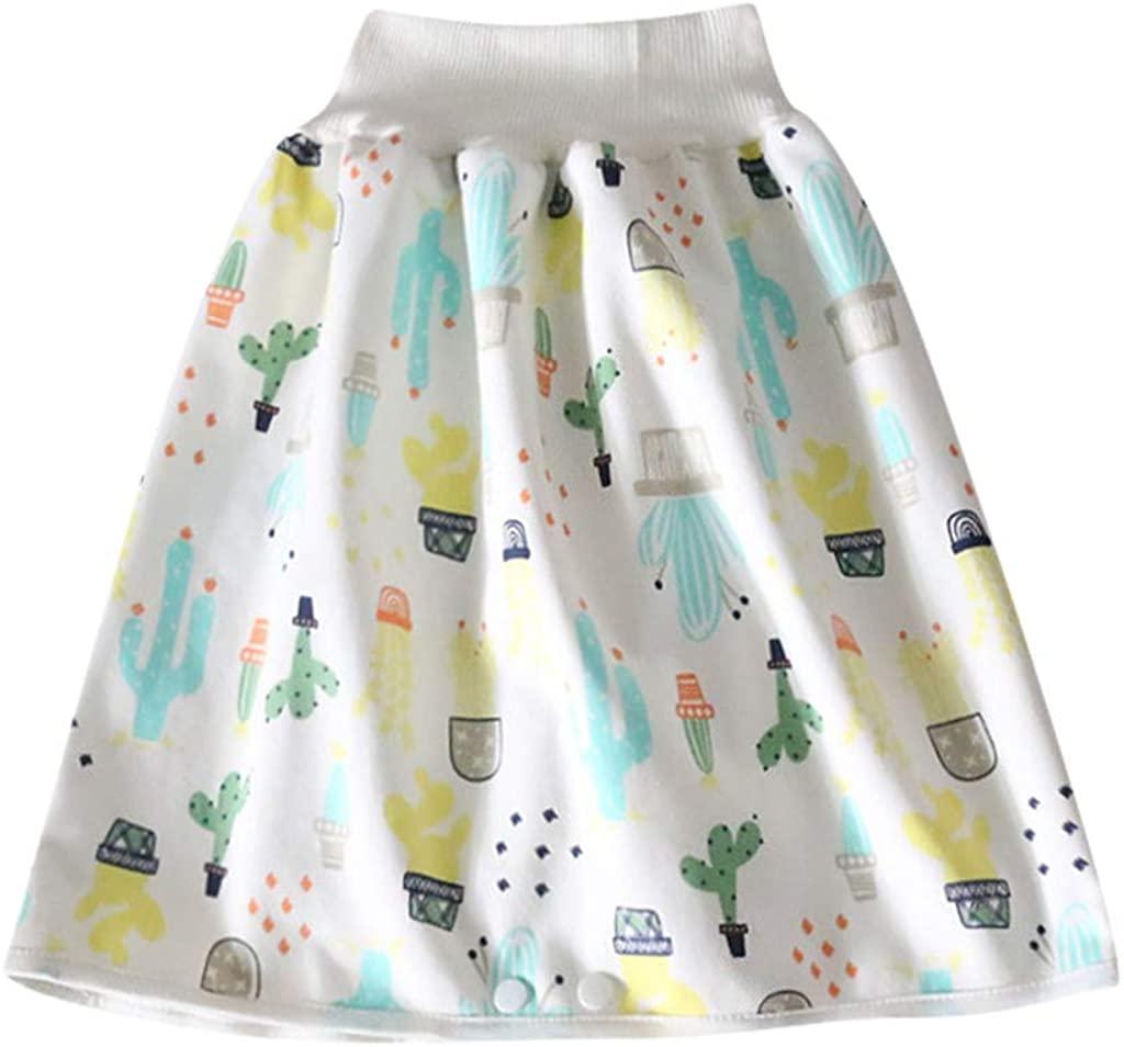 Comfy Reusable Baby Diaper Skirt Shorts 2 in 1 Boys Girls Training Skirt Cotton Training Pants Cloth Diaper Skirts